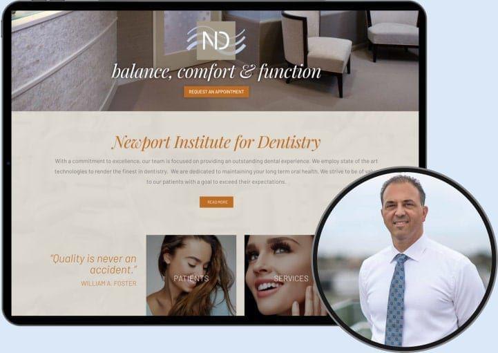 Newport Dentistry Website and Dentist