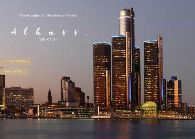 Alkass Dental Website Screenshot