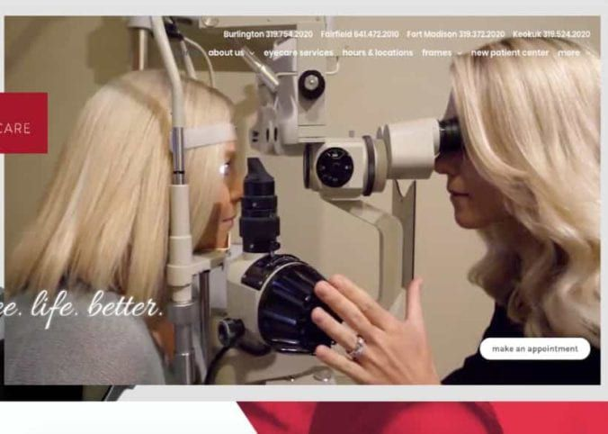 American Eyecare Website Screenshot