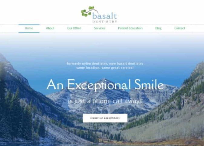 Basalt Dental Website Screenshot