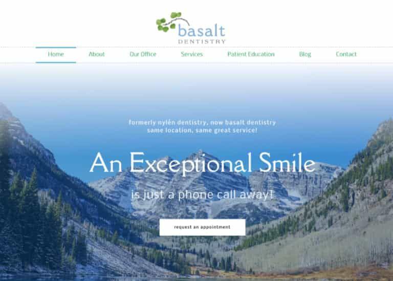 Basalt Dental Website Screenshot