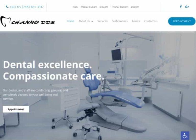 Channo Dds Website Screenshot