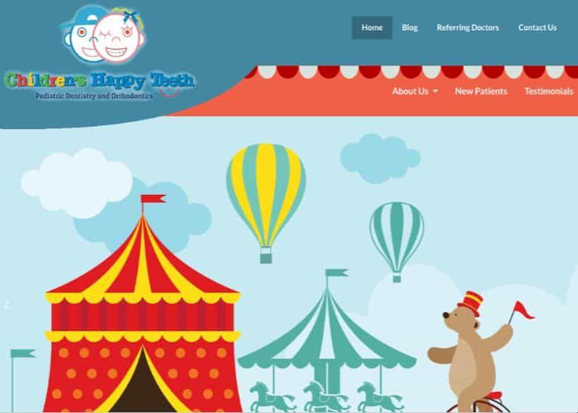 Children's Happy Teeth Website Screenshot