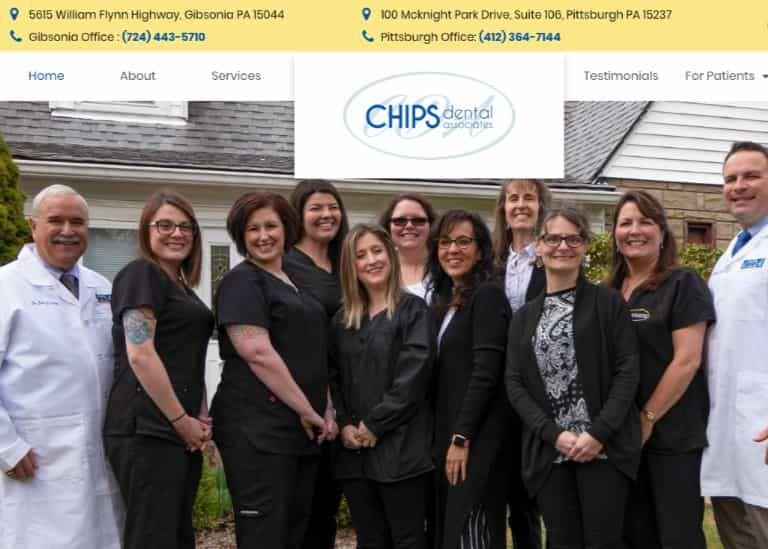 Chips Dental Associates Website Screenshot