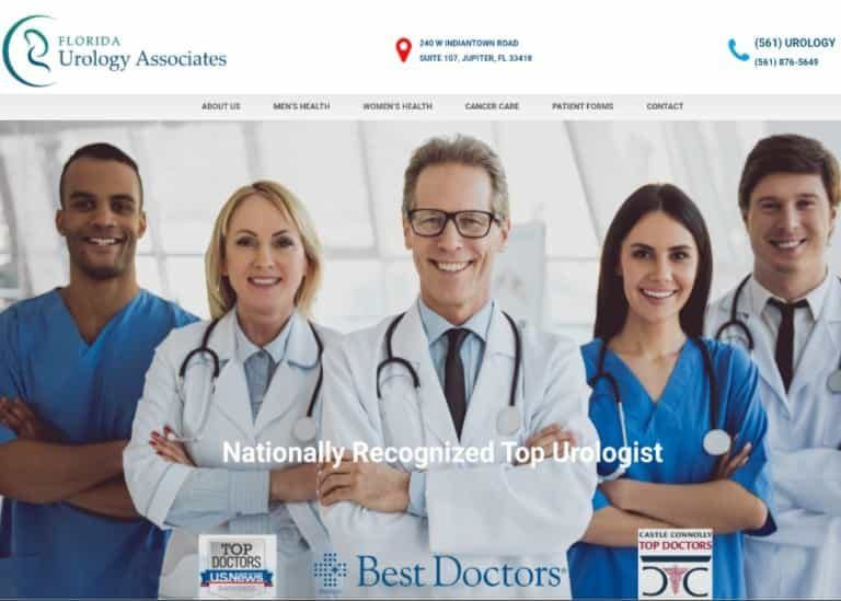 Florida Urology Associates Website Screenshot