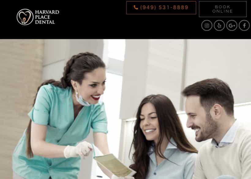Harvard Place Dental Website Screenshot