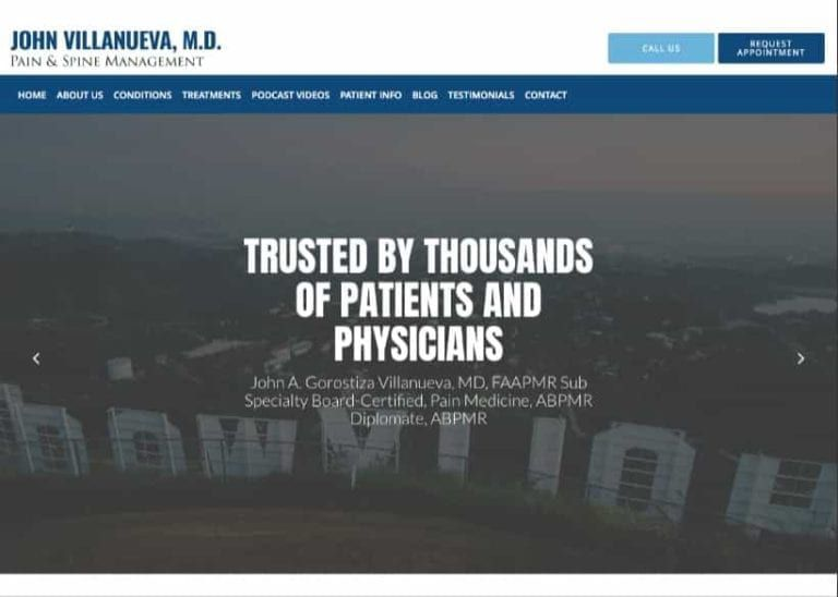 John Villanueva Md Website Screenshot