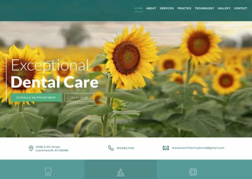 Leavenworth Family Dental Website Screenshot