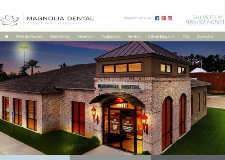 Magnolia Dental Website Screenshot