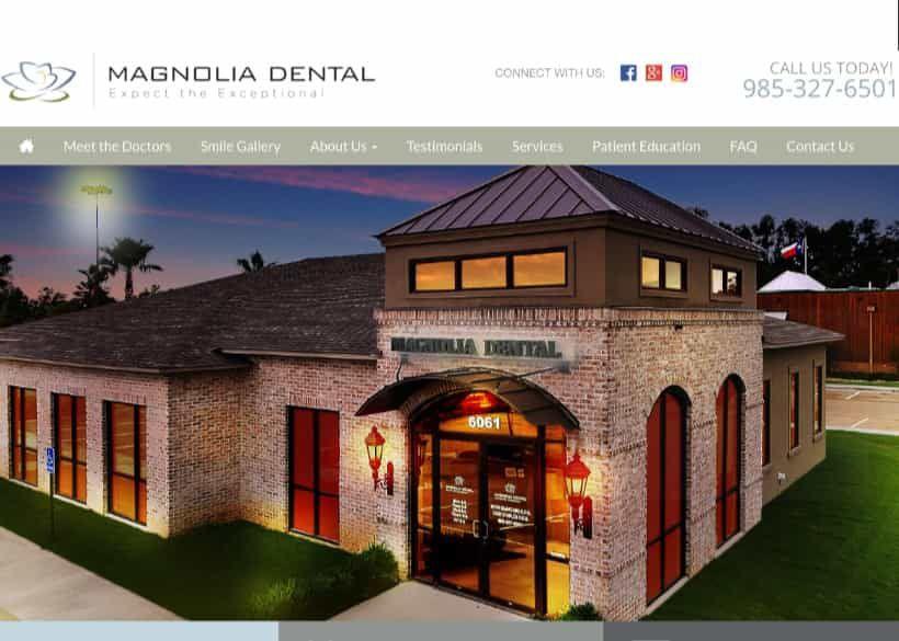 Magnolia Dental Website Screenshot