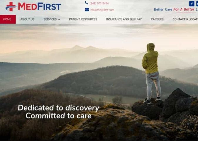Medfirst Website Screenshot