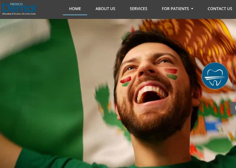 Mexico Dental Website Screenshot