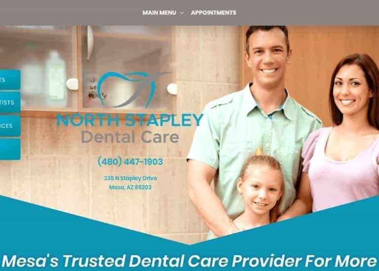 North Stapley Dental Care Website Screenshot