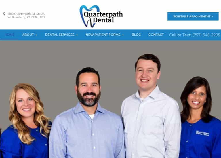 Quarterpath Dental Website Screenshot