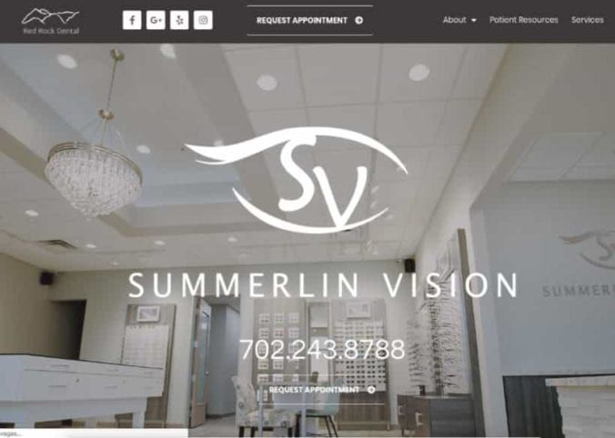 Summerline Vision Website Screenshot