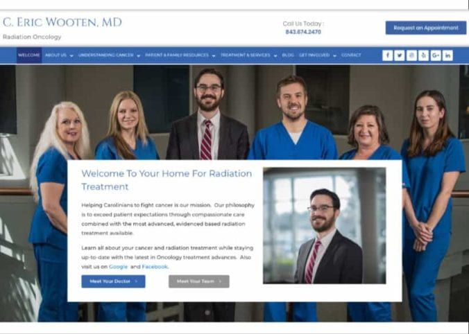 Wooten Oncology Website Screenshot