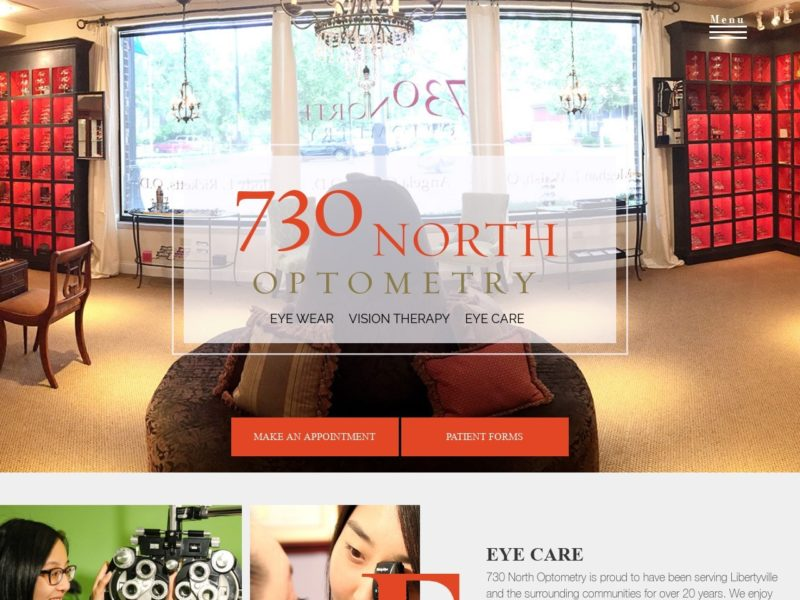 730 North Optometry Website Screenshot from url 730northoptometry.com