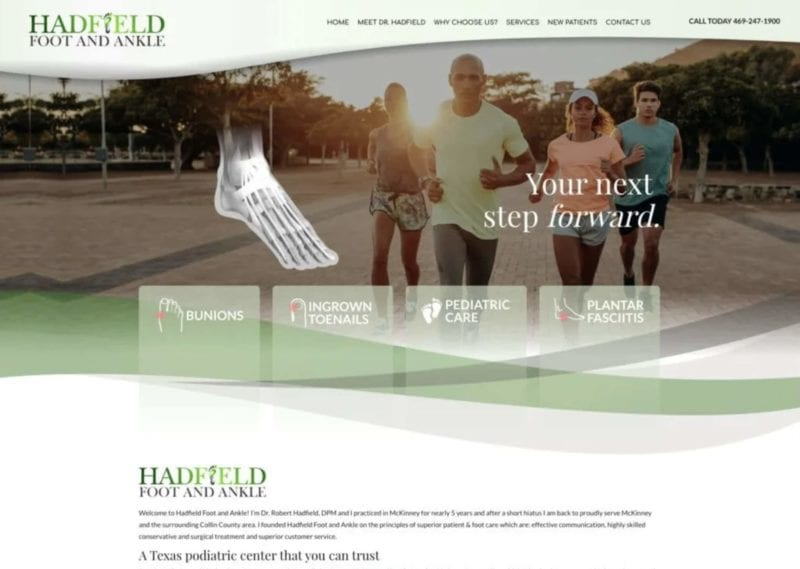 Hadfield Foot And Ankle Website