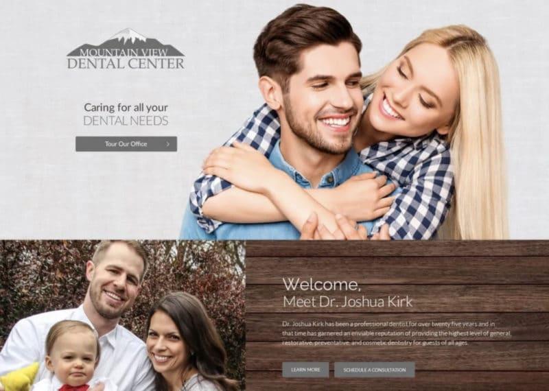 Mountain View Dental Center Website