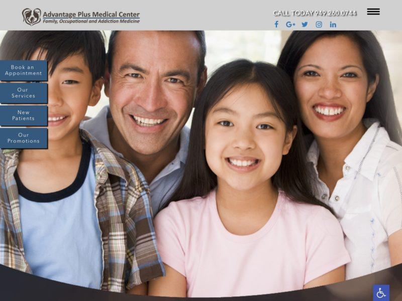 Advantage Medical Center Website Screenshot from url advantageplusmedicalcenter.com
