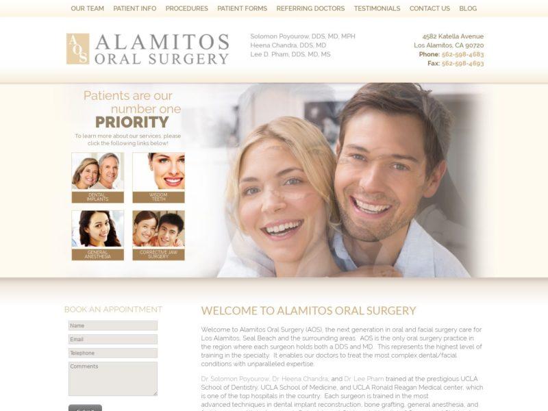 Alamitos Oral Surgery Website Screenshot from url alamitosoralsurgery.com