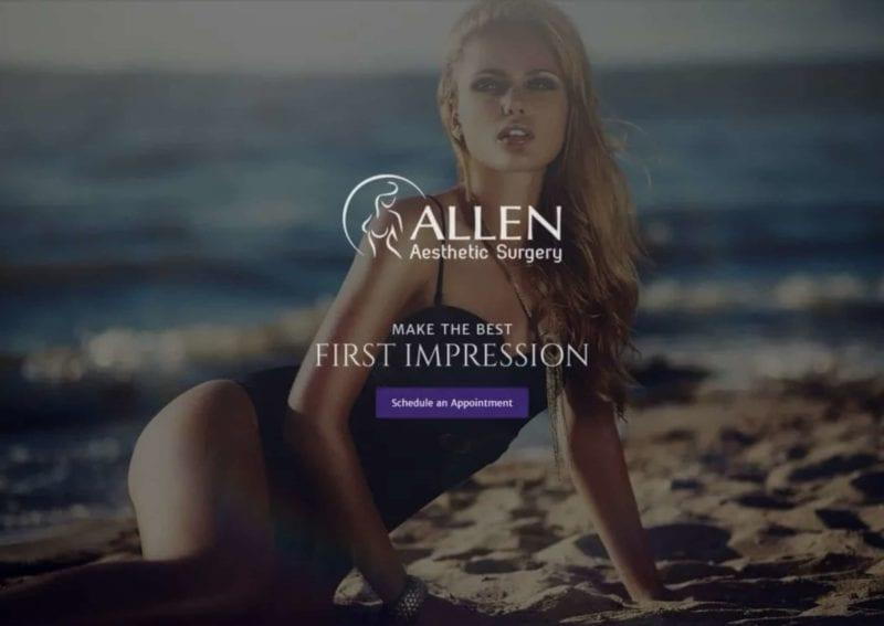 Allen Aesthetic Website