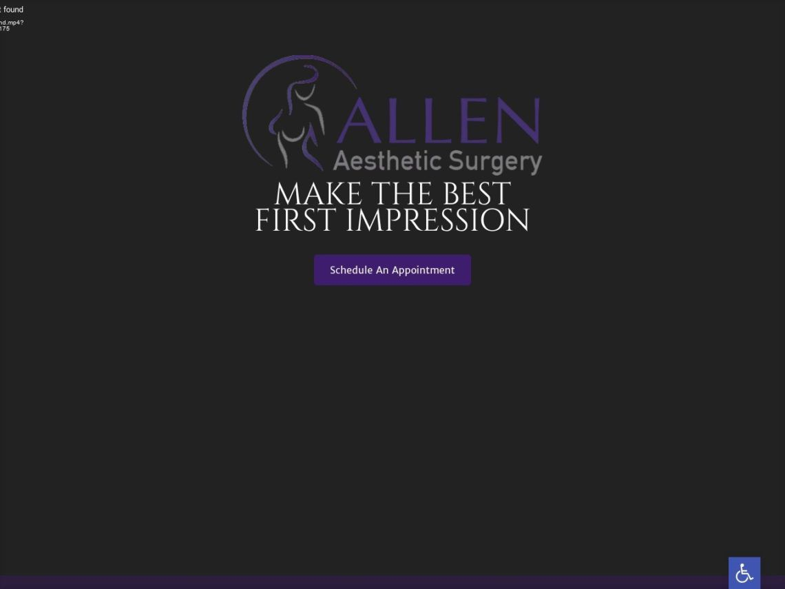 Allen Aesthetic Surgery Website Screenshot from url allenaestheticsurgery.com