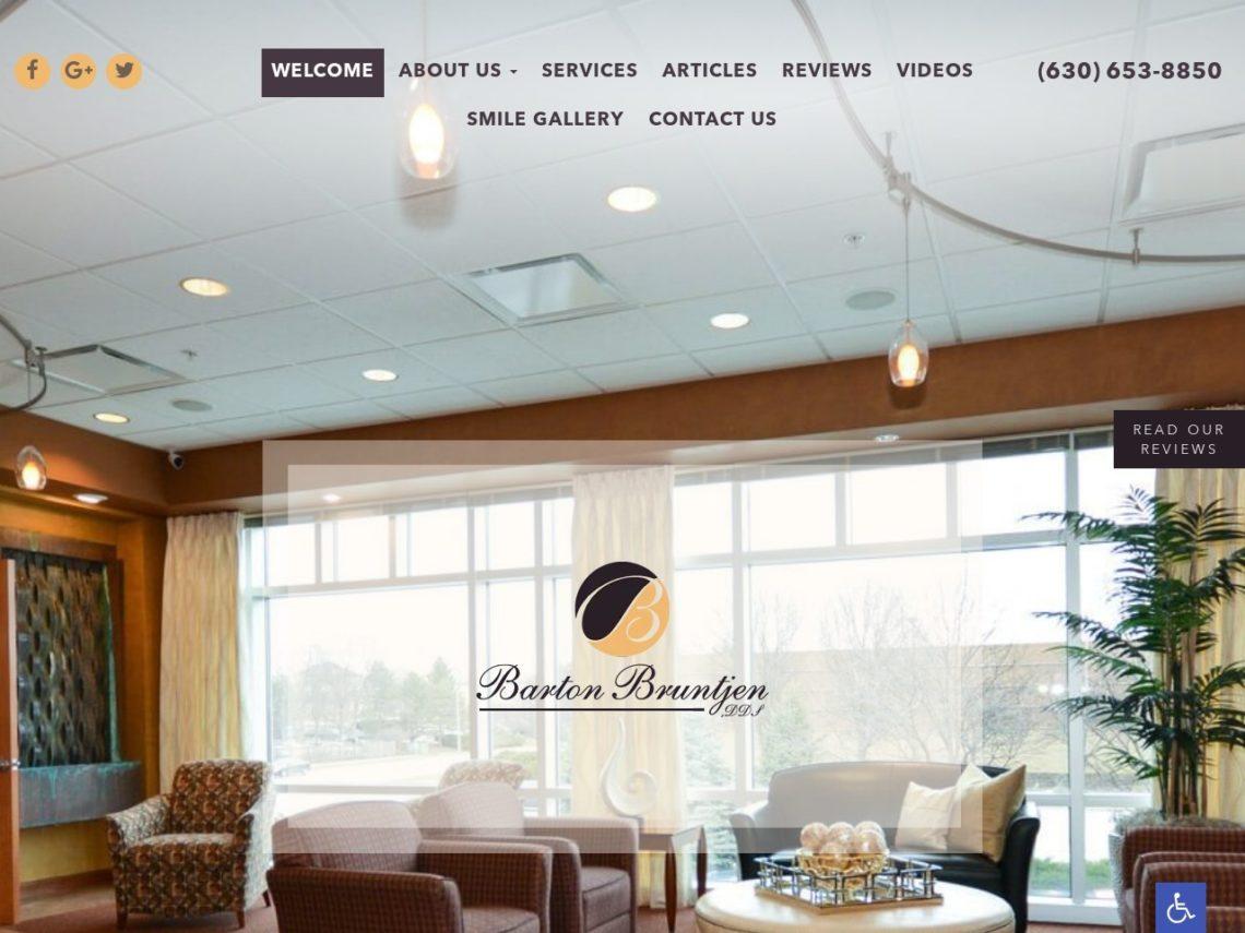 Dental Professionals of Wheaton Website Screenshot from url bartonbruntjendds.com
