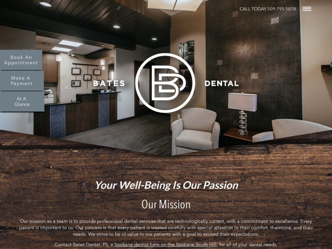Bates Dental Website Screenshot from url batesdental.com