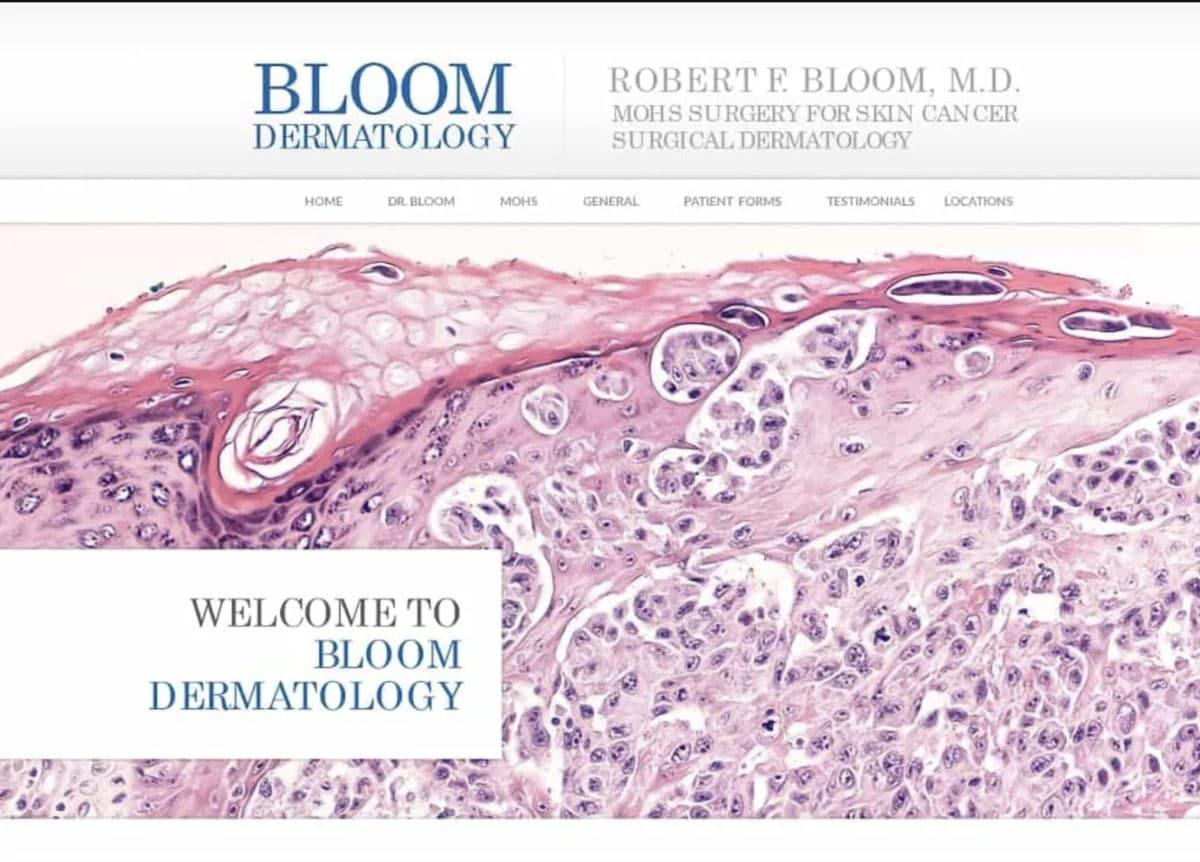 Bloom Dermatology Website