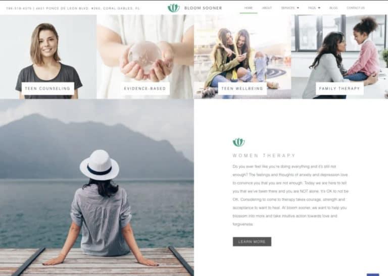Bloom Sooner Women Therapy Website