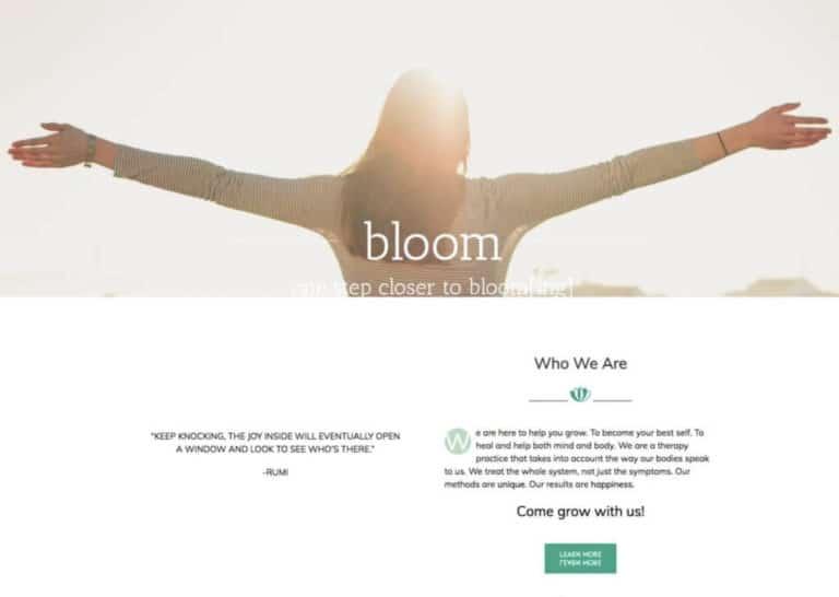 Bloom Woman Webstie Before