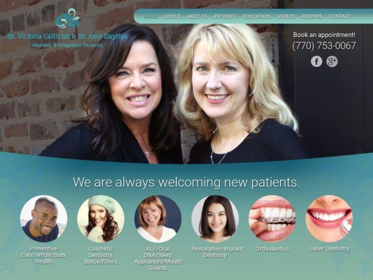 Dr. Callicutt & Dr. Dayries Website Screenshot from url callicuttdayries.com