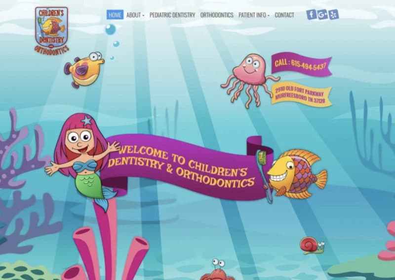 Children Dentistry And Orthodontics Website