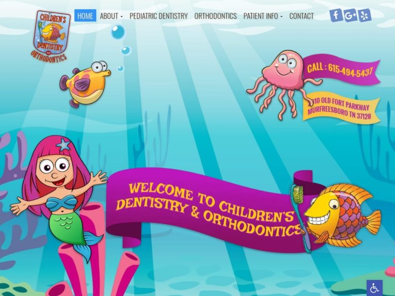 Children's Dentistry of Murfreesboro Website Screenshot from url childrensdentistryofmurfreesboro.com