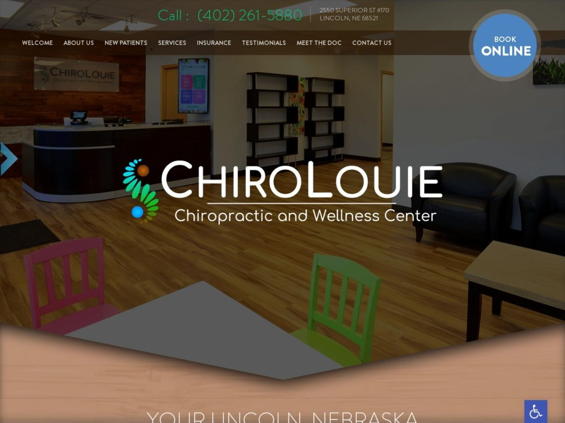Chiro Louie Website Screenshot from url chirolouie.com