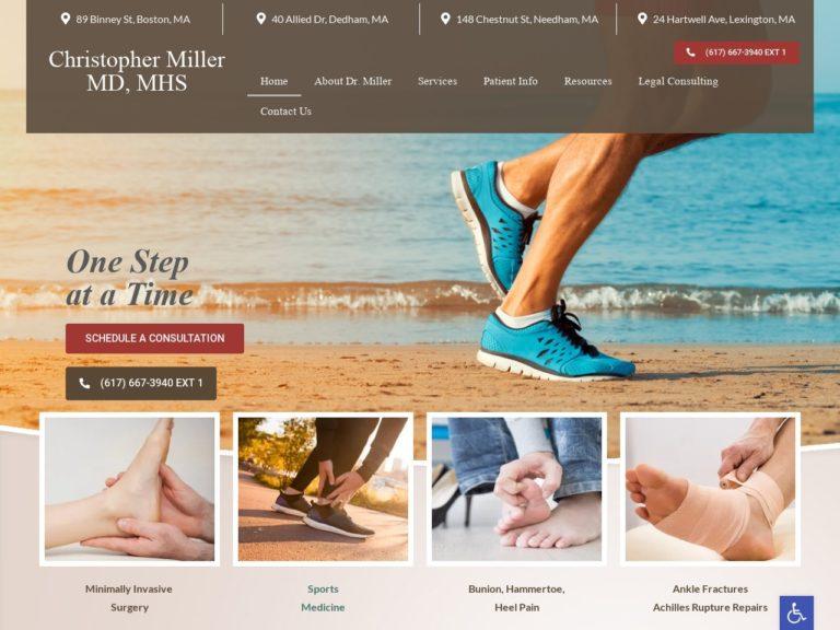 Christopher Miller MD Website Screenshot from url christopherpmillermd.com
