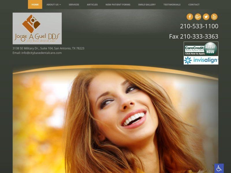 City Base Dental Care Website Screenshot from url citybasedentalcare.com