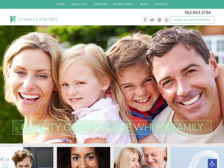La Mirada Cosmetic Dentistry Website Screenshot from url ckdentalcare.com