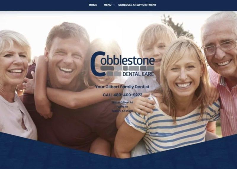 Cobble Stone Dental Care Website