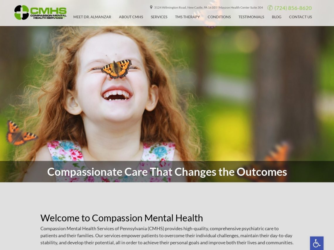 Compassion Mental Health Website Screenshot from url compassionmhs.com