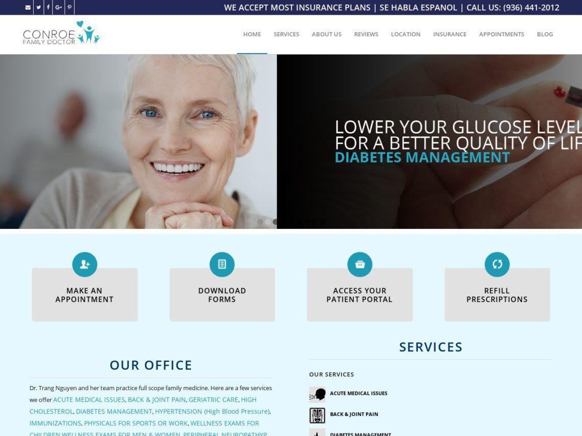 Conroe Family Doctor Website Screenshot from url conroefamilydoctor.com