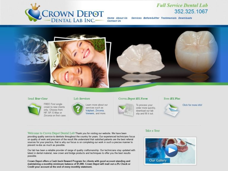 Crown Depot Website Screenshot from url crowndepot.com
