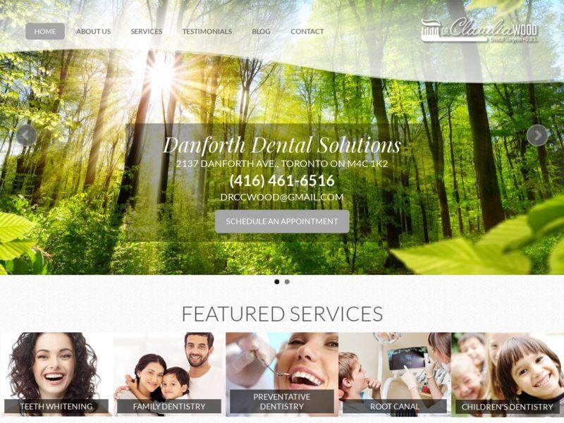 Danforth Dental Solutions Website Screenshot from url danforthdentalsolutions.ca