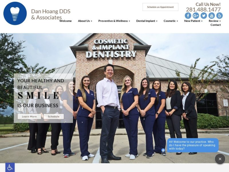 Dan Hoang DDS Website Screenshot from url danhoangdds.com