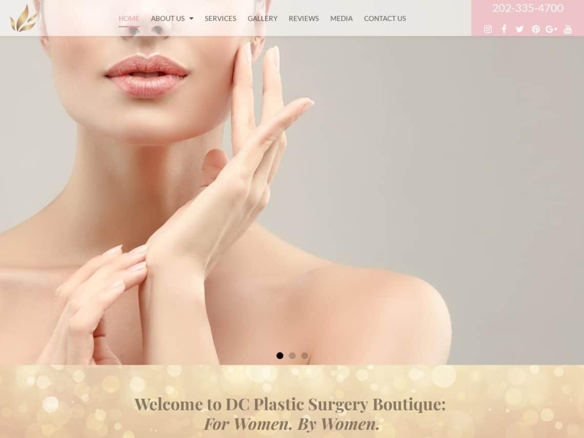 DC Plastic Surgery Boutique Website Screenshot from url dcplasticsurgeryboutique.com