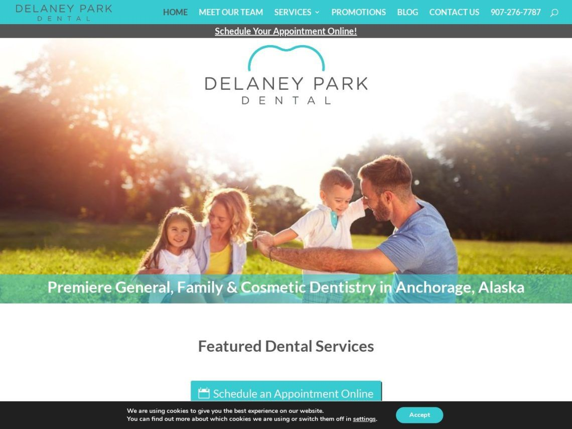Delaney Park Dental Website Screenshot from url delaneyparkdental.com