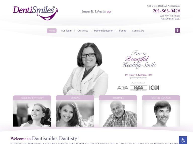 Dentismiles Dentisty Website Screenshot from url dentismiles.com