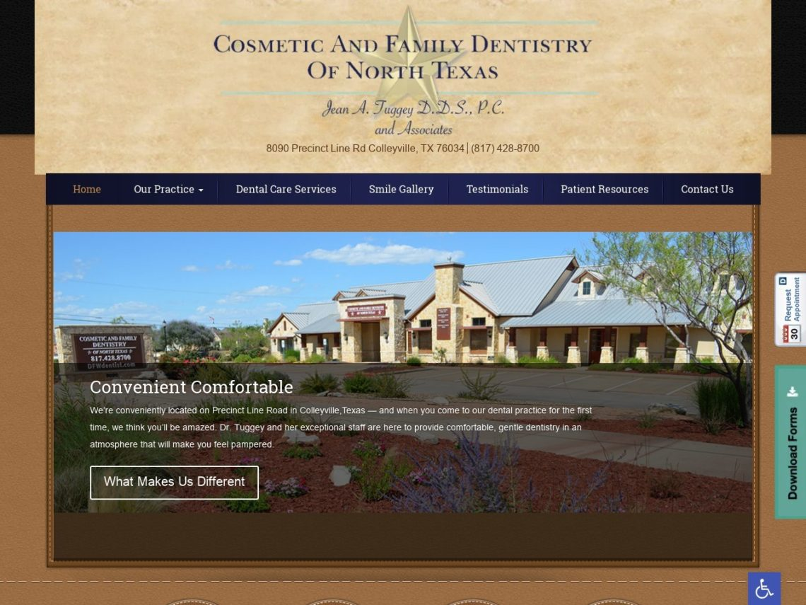 Cosmetic and Family Dentistry Website Screenshot from url dentistincolleyville.com