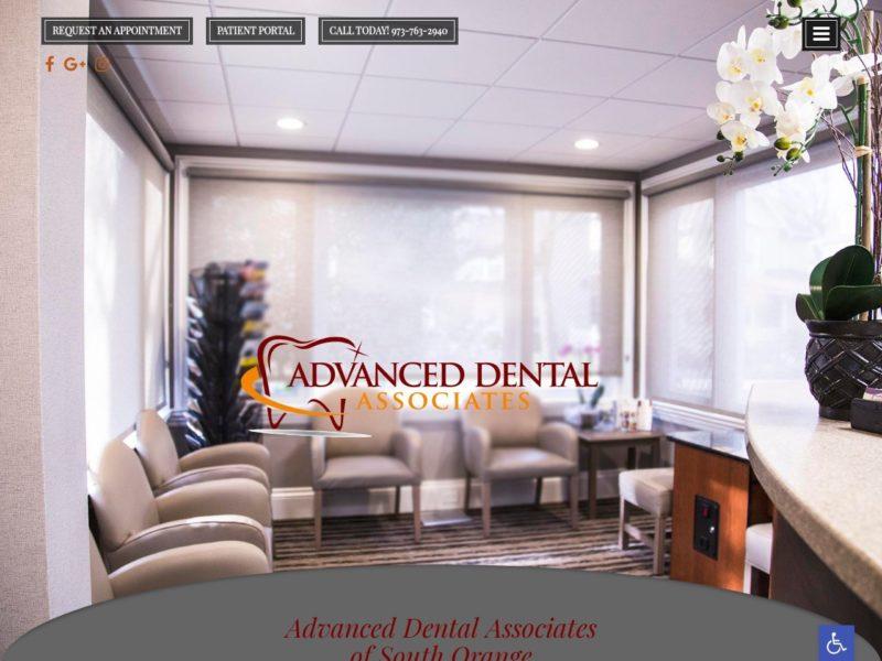 Advanced Dental of South Orange Website Screenshot from url dentistsouthorange.com